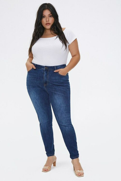 Plus Size High-Rise Skinny Jeans, image 1