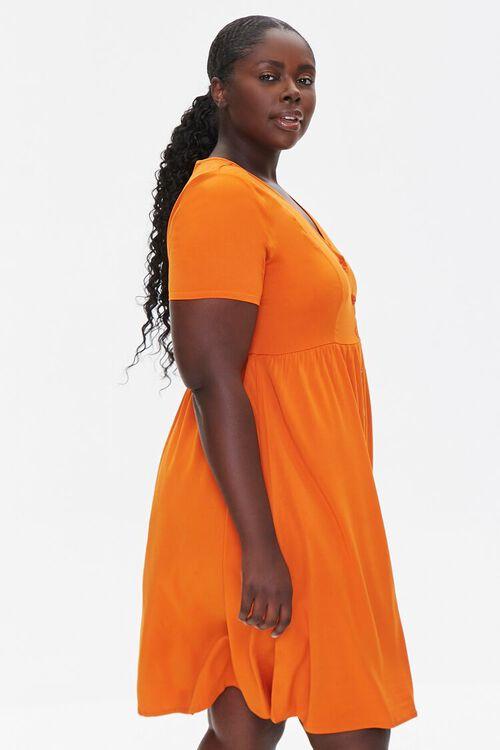 RUST Plus Size Fit & Flare Dress, image 2