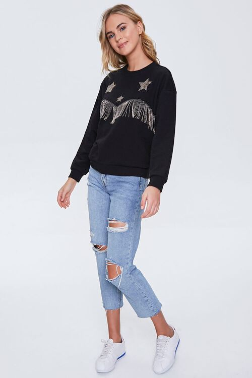 French Terry Fringe Pullover, image 4
