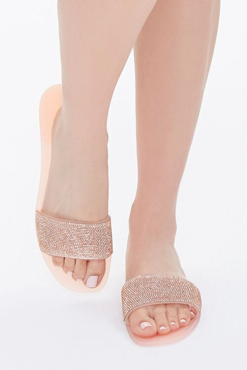 Rhinestone Slip-On Sandals, image 4