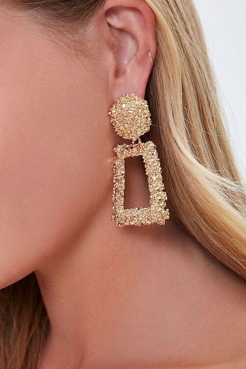 Textured Doorknocker Earrings, image 1