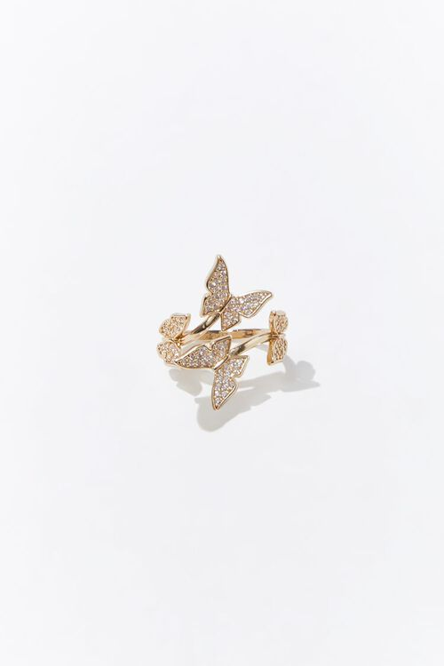 Butterfly Charm Cocktail Ring, image 1