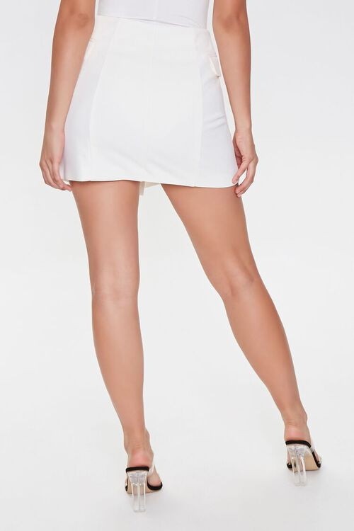 WHITE Double-Breasted Mini Skirt, image 3