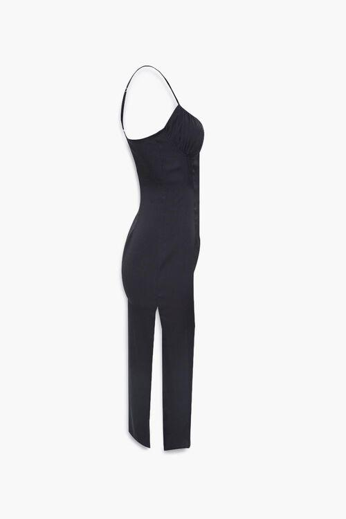 Satin Side-Slit Midi Dress, image 2