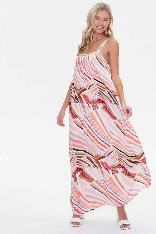 Crinkled Striped Crochet-Trim Dress, image 4