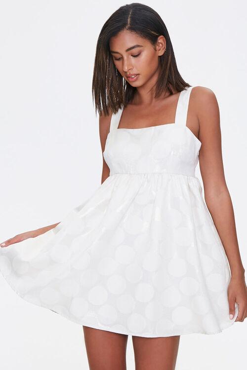 Metallic Polka Dot Fit & Flare Dress, image 1