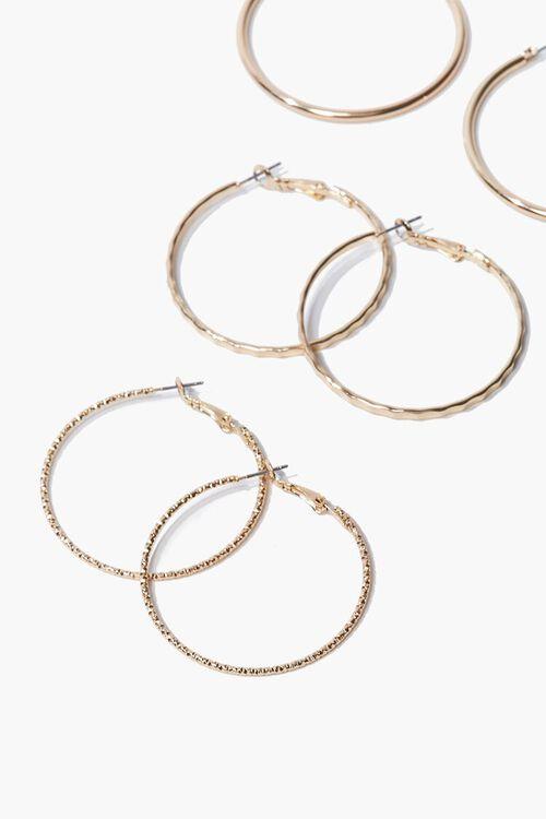 GOLD High-Polish Hoop Earring Set, image 2