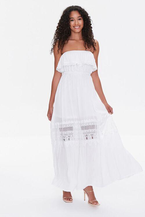 Lace-Trim Maxi Dress, image 1