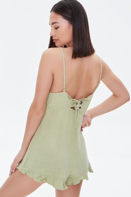 Lace-Up Cami Romper, image 3