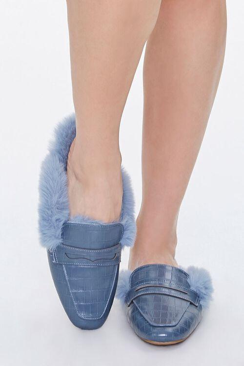 Faux Fur-Lined Mules, image 4