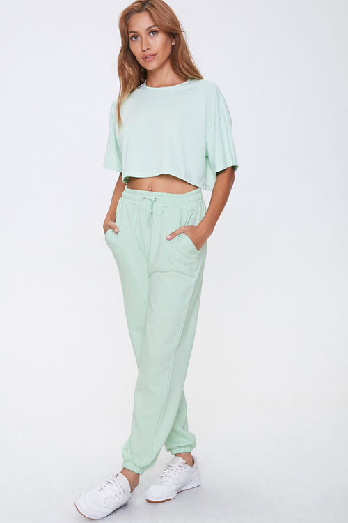 Cropped Tee & Joggers Set, image 1