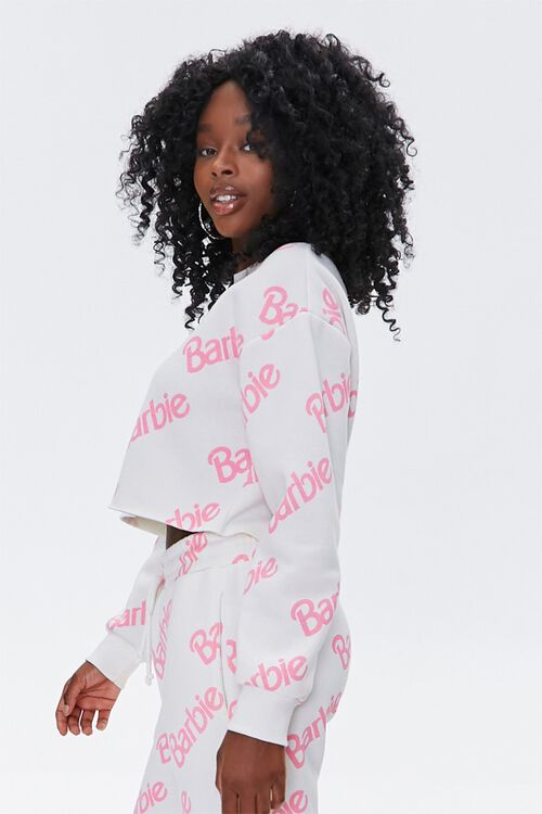 WHITE/PINK Fleece Barbie™ Pullover, image 2