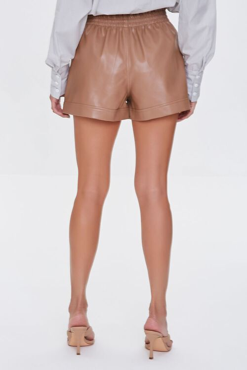 Faux Leather High-Rise Shorts, image 4
