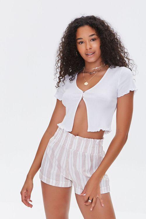 Striped Paperbag Shorts, image 1