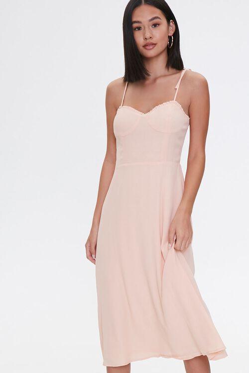 PEACH Tie-Strap Sweetheart Dress, image 1