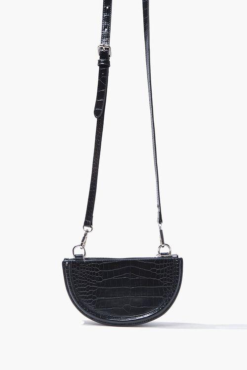 Faux Croc Crossbody Bag, image 1