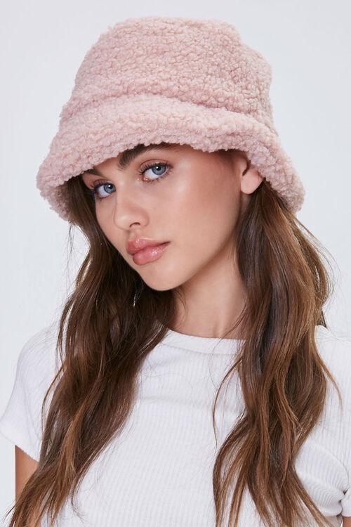 Faux Shearling Bucket Hat, image 1
