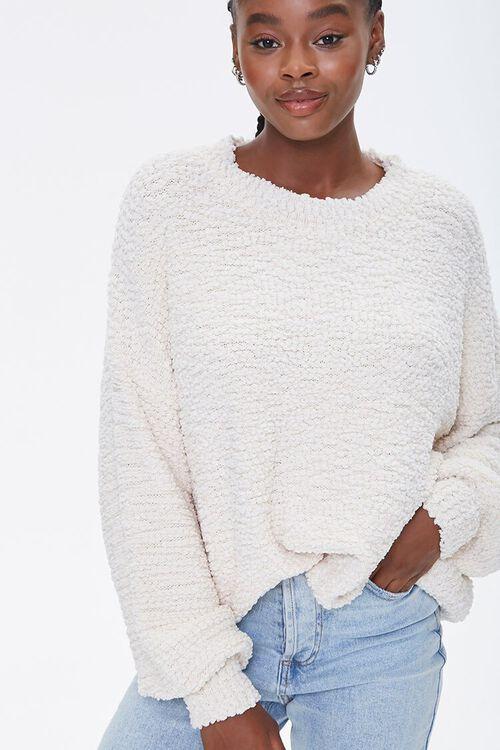 Popcorn Knit Drop-Sleeve Sweater, image 5