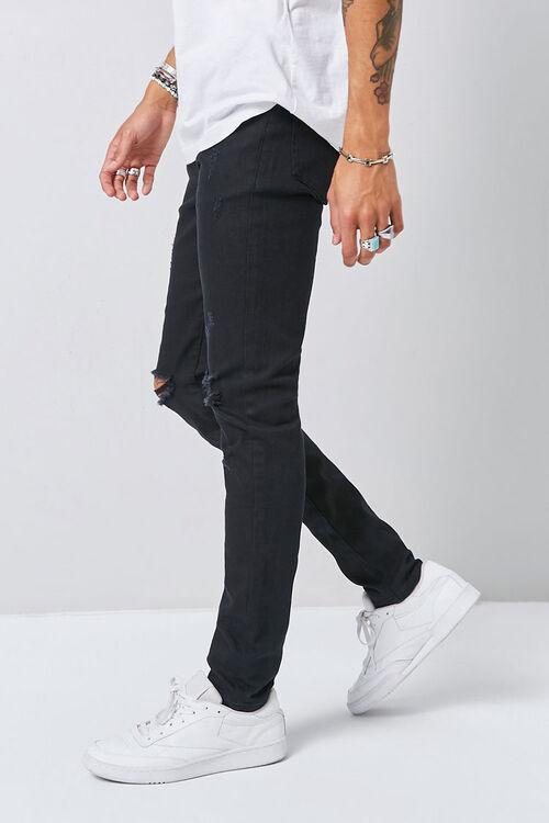 Distressed Slim-Fit Chino Pants, image 3