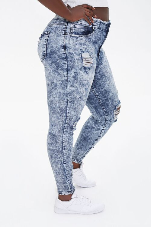 Plus Size Bleached Skinny Jeans, image 3