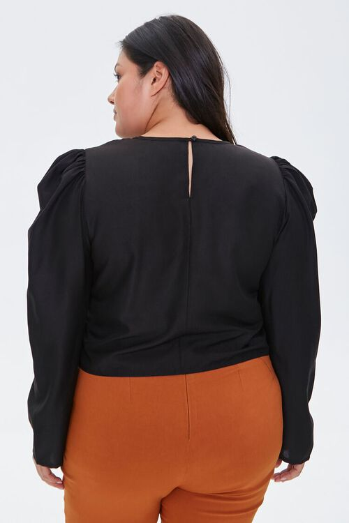 Plus Size Ruched Drawstring Top, image 3