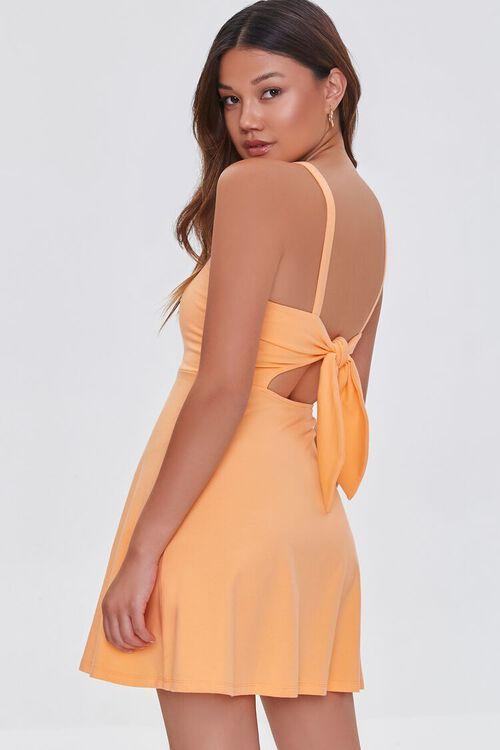 ORANGE Open-Back Skater Mini Dress, image 1