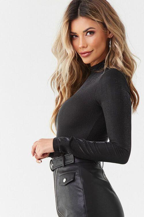 Metallic Knit Bodysuit, image 3