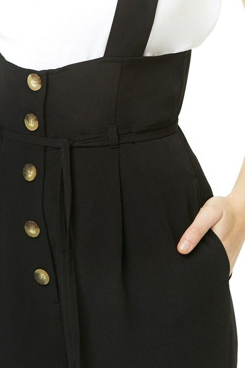 Pinafore Button-Front Jumpsuit, image 6