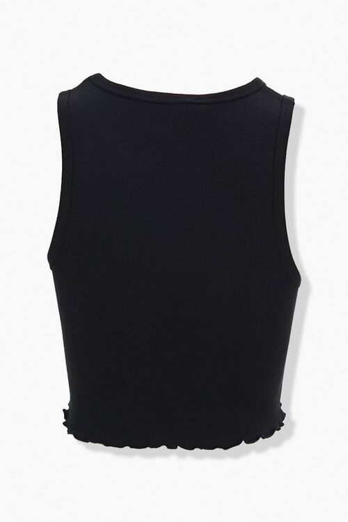 Lettuce-Edge Cropped Tank Top, image 3