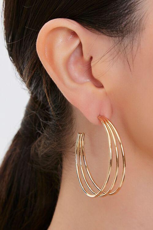 Cutout Hoop Earrings, image 2
