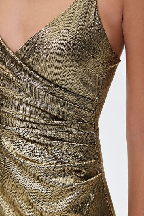 GOLD Metallic Cami Maxi Dress, image 5