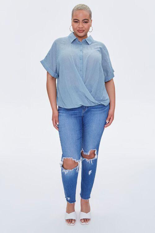 Plus Size Crossover Shirt, image 4