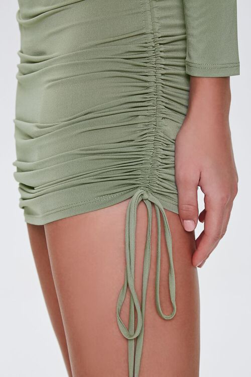 Ruched Drawstring Mini Dress, image 5