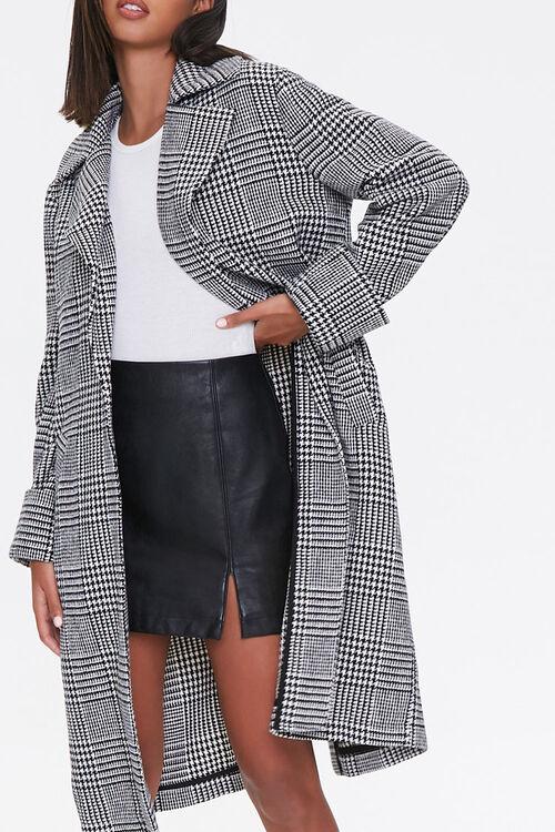 Glen Plaid Longline Jacket, image 1