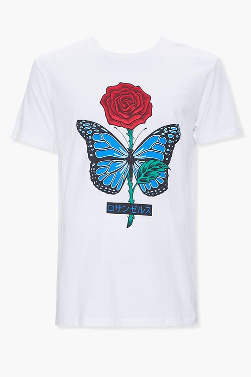 Rose Butterfly Graphic Tee, image 1
