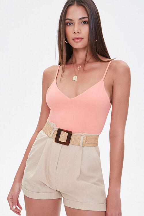 CORAL V-Neck Cami Bodysuit, image 1