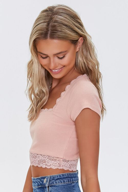 Lace-Trim Crop Top, image 2