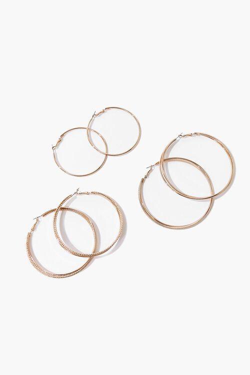 Etched Hoop Earring Set, image 1