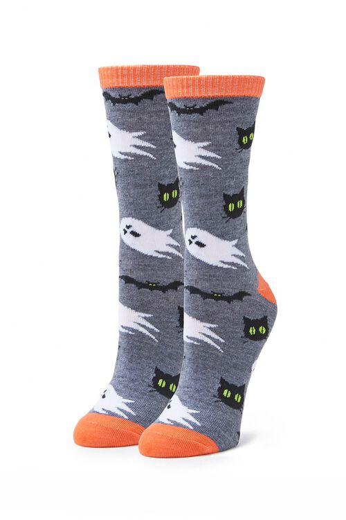 Spooky Print Crew Socks, image 2