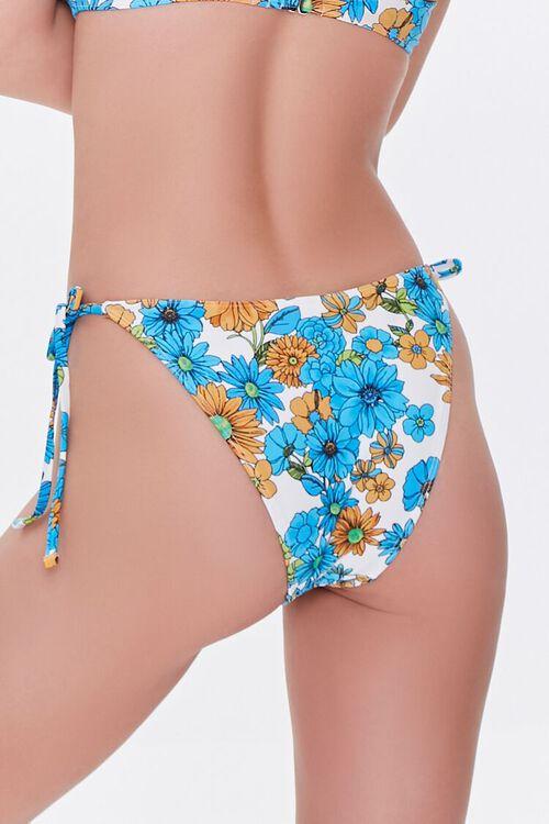 BLUE/MULTI Floral Print String Bikini Bottoms, image 4