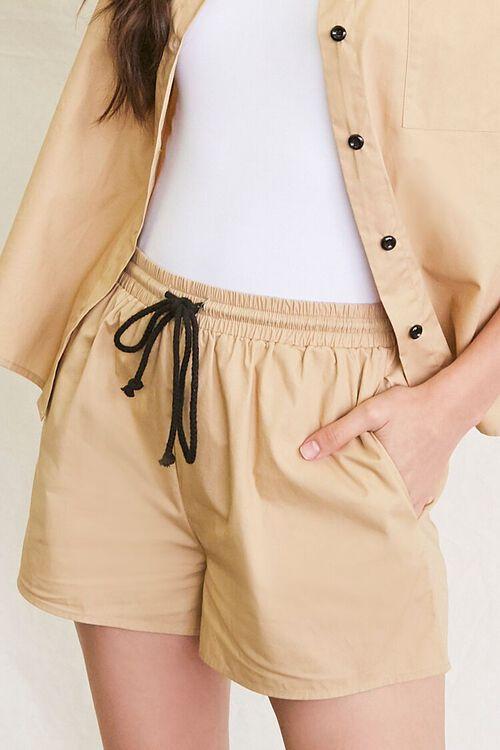 KHAKI Pocket Shirt & Drawstring Shorts Set, image 6