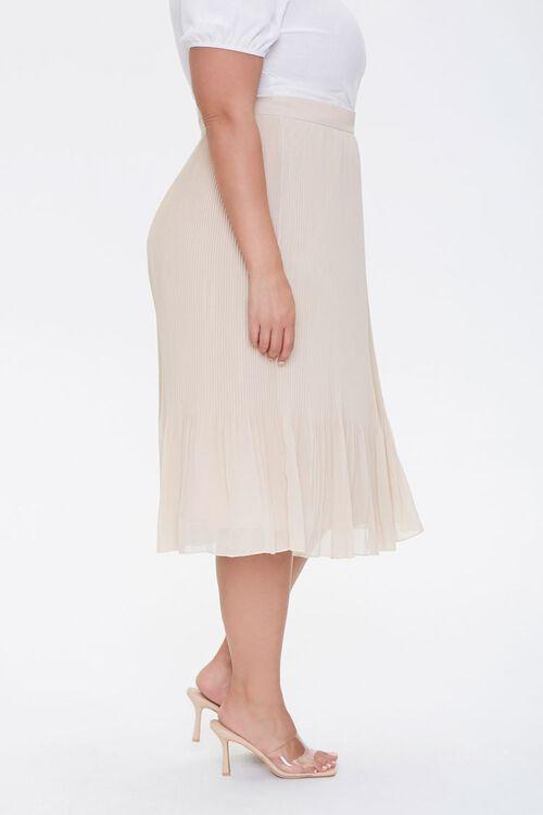 Plus Size Flowy Midi Skirt, image 3