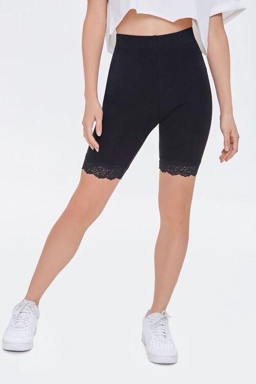 Lace-Trim Biker Shorts, image 2