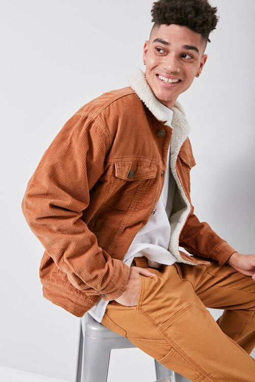 Corduroy Faux Shearling-Lined Jacket, image 6