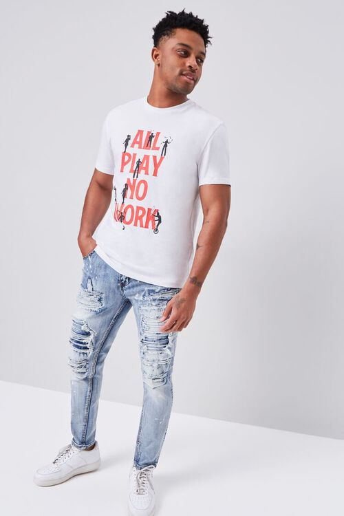 Distressed Paint Splatter Jeans, image 1