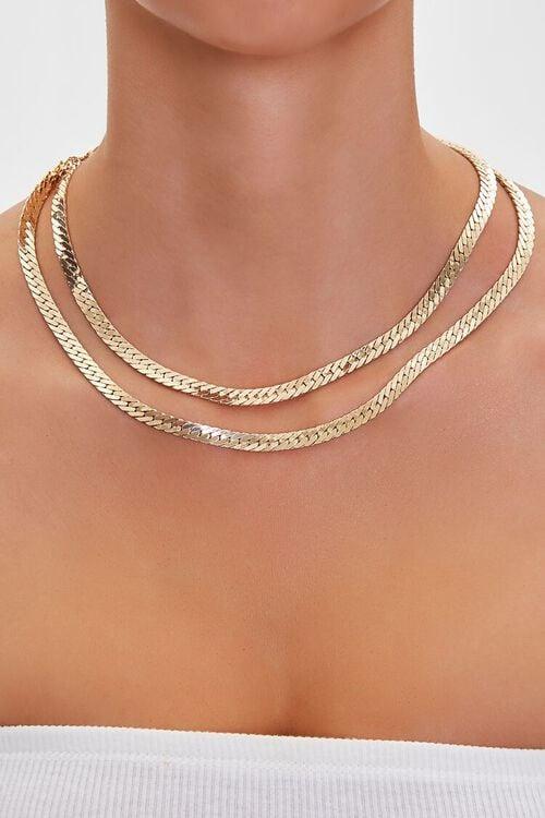 Layered Herringbone Necklace, image 1