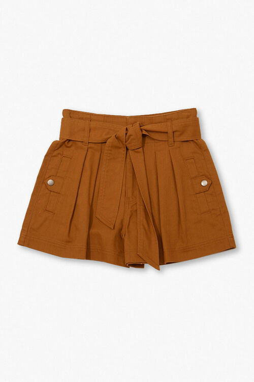 High-Rise Tie-Waist Shorts, image 1