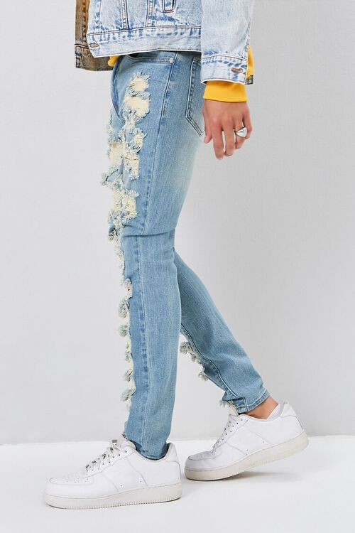 Bleached Distressed Skinny Jeans, image 3