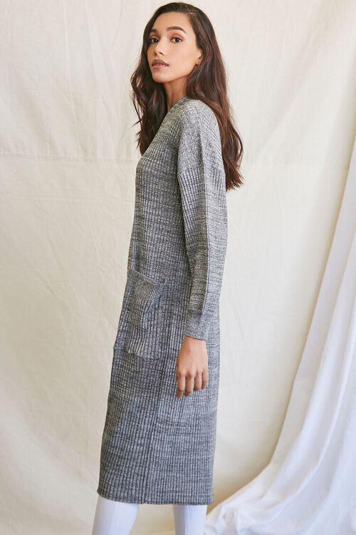 BLACK/MULTI Longline Cardigan Sweater, image 2