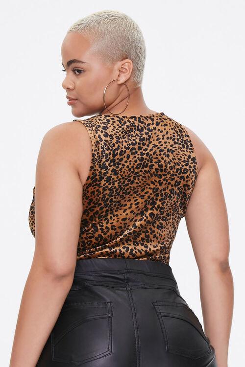 Plus Size Velvet Leopard Bodysuit, image 3